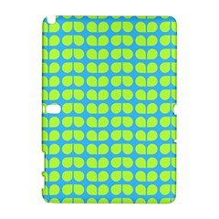 Blue Lime Leaf Pattern Samsung Galaxy Note 10 1 (p600) Hardshell Case by creativemom