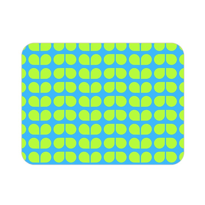 Blue Lime Leaf Pattern Double Sided Flano Blanket (Mini)