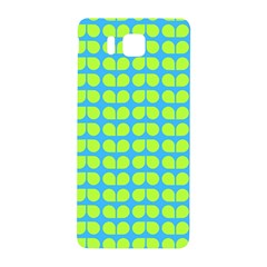 Blue Lime Leaf Pattern Samsung Galaxy Alpha Hardshell Back Case by creativemom