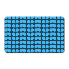 Blue Gray Leaf Pattern Magnet (rectangular) by creativemom