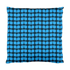 Blue Gray Leaf Pattern Cushion Case (two Sided)  by creativemom
