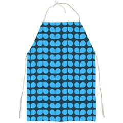 Blue Gray Leaf Pattern Apron by creativemom