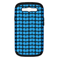 Blue Gray Leaf Pattern Samsung Galaxy S Iii Hardshell Case (pc+silicone) by creativemom