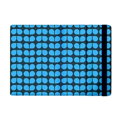 Blue Gray Leaf Pattern Apple Ipad Mini Flip Case by creativemom