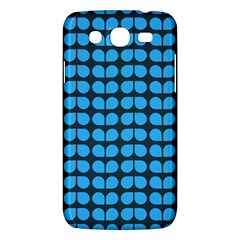 Blue Gray Leaf Pattern Samsung Galaxy Mega 5 8 I9152 Hardshell Case  by creativemom