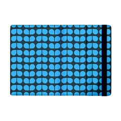 Blue Gray Leaf Pattern Apple Ipad Mini 2 Flip Case by creativemom