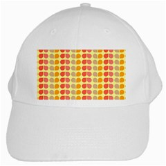 Colorful Leaf Pattern White Baseball Cap by creativemom