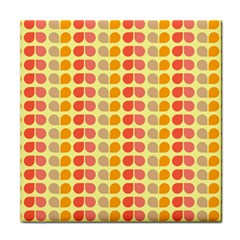 Colorful Leaf Pattern Face Towel by creativemom