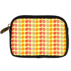 Colorful Leaf Pattern Digital Camera Leather Case by creativemom