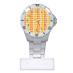 Colorful Leaf Pattern Nurses Watch by creativemom