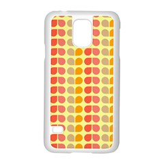 Colorful Leaf Pattern Samsung Galaxy S5 Case (white) by creativemom