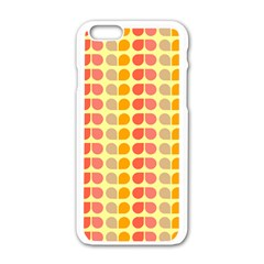 Colorful Leaf Pattern Apple Iphone 6 White Enamel Case by creativemom