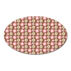 Cute Floral Pattern Magnet (oval) by creativemom