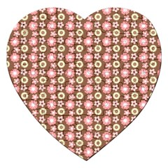 Cute Floral Pattern Jigsaw Puzzle (heart) by creativemom