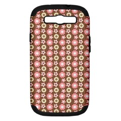 Cute Floral Pattern Samsung Galaxy S Iii Hardshell Case (pc+silicone) by creativemom
