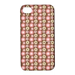 Cute Floral Pattern Apple Iphone 4/4s Hardshell Case With Stand by creativemom