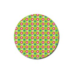 Cute Floral Pattern Drink Coasters 4 Pack (round) by creativemom