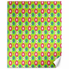 Cute Floral Pattern Canvas 11  X 14  (unframed) by creativemom