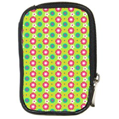 Cute Floral Pattern Compact Camera Leather Case by creativemom