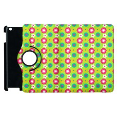 Cute Floral Pattern Apple Ipad 2 Flip 360 Case by creativemom