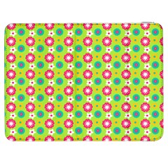 Cute Floral Pattern Samsung Galaxy Tab 7  P1000 Flip Case by creativemom