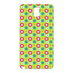 Cute Floral Pattern Samsung Galaxy Note 3 N9005 Hardshell Back Case by creativemom