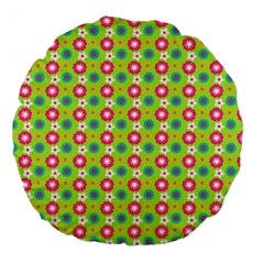 Cute Floral Pattern 18  Premium Flano Round Cushion  by creativemom