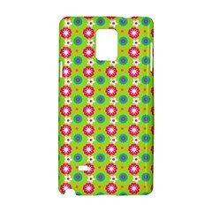 Cute Floral Pattern Samsung Galaxy Note 4 Hardshell Case by creativemom