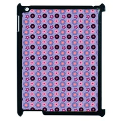 Cute Floral Pattern Apple Ipad 2 Case (black) by creativemom