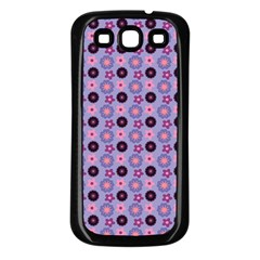 Cute Floral Pattern Samsung Galaxy S3 Back Case (black) by creativemom