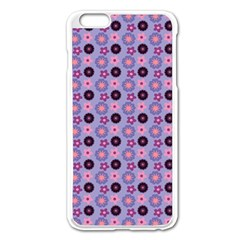 Cute Floral Pattern Apple Iphone 6 Plus Enamel White Case by creativemom