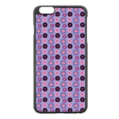 Cute Floral Pattern Apple Iphone 6 Plus Black Enamel Case by creativemom