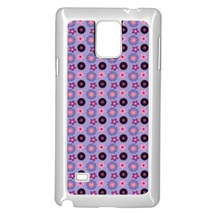 Cute Floral Pattern Samsung Galaxy Note 4 Case (white) by creativemom