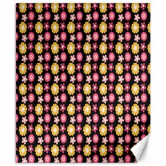 Cute Floral Pattern Canvas 8  X 10  (unframed) by creativemom