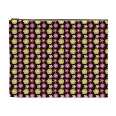 Cute Floral Pattern Cosmetic Bag (xl) by creativemom