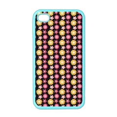 Cute Floral Pattern Apple Iphone 4 Case (color) by creativemom