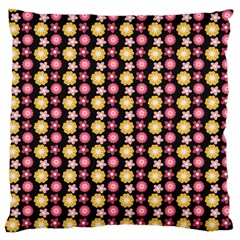 Cute Floral Pattern Large Cushion Case (two Sided)  by creativemom