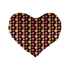 Cute Floral Pattern 16  Premium Heart Shape Cushion  by creativemom