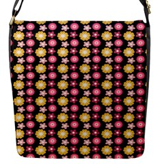 Cute Floral Pattern Flap Closure Messenger Bag (small) by creativemom