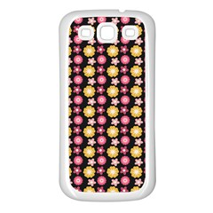 Cute Floral Pattern Samsung Galaxy S3 Back Case (white) by creativemom