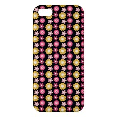 Cute Floral Pattern Iphone 5s Premium Hardshell Case by creativemom