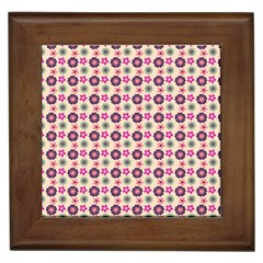 Cute Floral Pattern Framed Ceramic Tile by creativemom