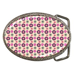 Cute Floral Pattern Belt Buckle (oval) by creativemom