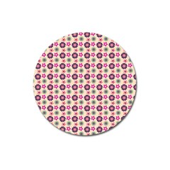 Cute Floral Pattern Magnet 3  (round) by creativemom