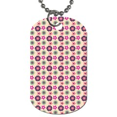 Cute Floral Pattern Dog Tag (two Sided)  by creativemom