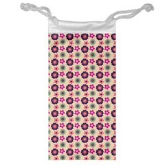 Cute Floral Pattern Jewelry Bag by creativemom