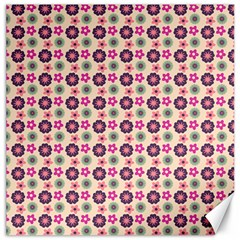 Cute Floral Pattern Canvas 16  X 16  (unframed) by creativemom