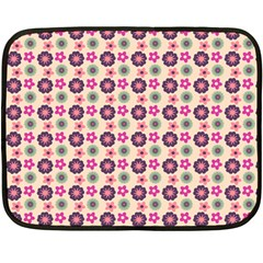 Cute Floral Pattern Mini Fleece Blanket (two Sided) by creativemom