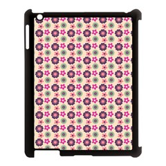 Cute Floral Pattern Apple Ipad 3/4 Case (black) by creativemom