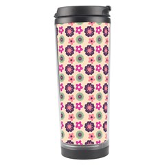Cute Floral Pattern Travel Tumbler by creativemom